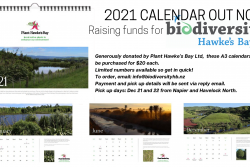 Calendar to raise much-needed funds for Biodiversity Hawke's Bay